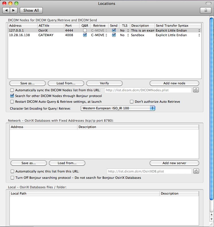 XNAT Tools: XNAT Gateway Setup for Osirix